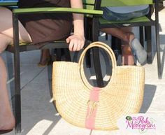 Queen Bea Extra Large Coastal Shoulder Florida Basket  Apparel & Accessories > Handbags > Shoulder Bags