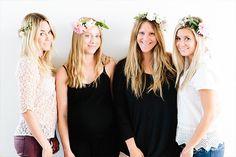 Lauren Conrad's Make Flower Crowns Tutorial