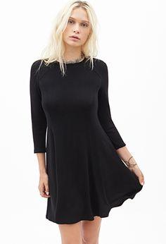 Long-Sleeved Skater Dress | FOREVER21 - 2055878238