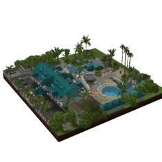 Mansion pool hotel