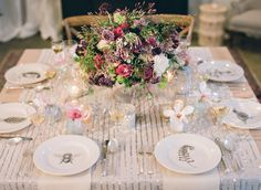 wedding tables, dinner parties, silver weddings