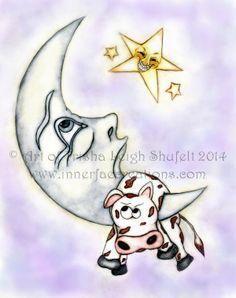 Now available https://www.etsy.com/listing/185388169/art-print-a-big-moostake-fairy-tale-art (c) Trisha Leigh Shufelt 2014