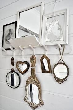 Cute mirror wall.