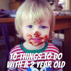 10 things to do with a 2 year old at home