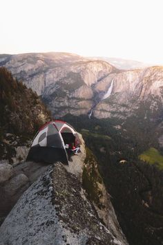 #camping on a cliff