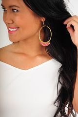 Hoop-Dee-Doo Earrings: Gold/Pink
