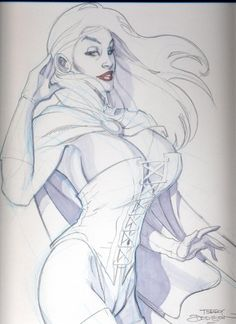 White Queen by Terry Dodson Comic Art
