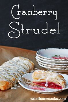 Cranberry Strudel - easier than it looks! #puffpastry