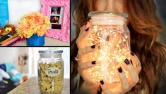 DIY: 6 Ways to Re-use Candle Jars! (+playlist) IDK WHY...But this reminded me of Fall creativ, craft, candles, musttri diy, used candle jars, candl jar, reus candl, thing
