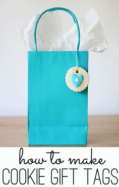 how to make cookie gift tags with the perfect sugar cookie recipe