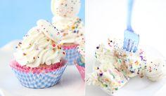 Sprinkle Bakes: Homemade Confetti Cupcakes