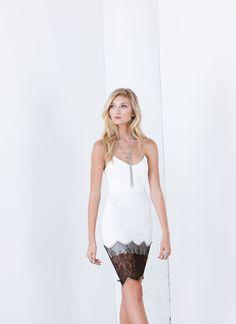 Chic Date Lace Trim Bodycon Dress
