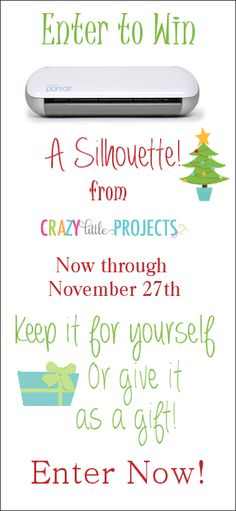 Giveaway! Silhouette Portrait - Crazy Little Projects