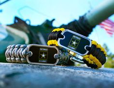 This is the officially licensed Retired U.S. Army™ Survival Bracelet. Perfect for showing your support for our troops! It is most popular as a bracelet or an anklet and is our thinnest, lightest option.