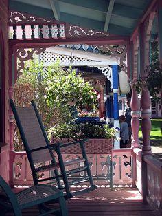 Martha's Vineyard Oaks Bluff porches