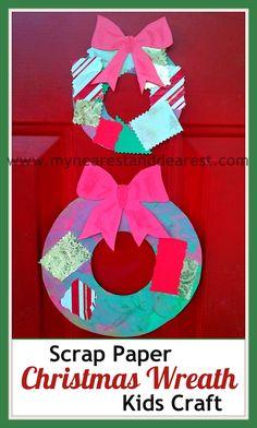 Scrap Paper Christmas Wreath