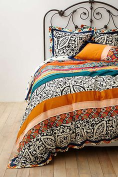 Very unique series of patterns across the entire bedding set.Take a look at our Paisley Bedding designs at http://www.visionbedding.com/Bedding/Paisley.php