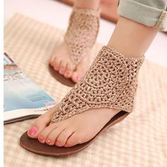 crochet cover, crochet sandal, sandals, shoe