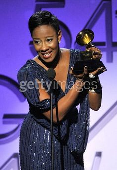 Accepting the Grammy Award