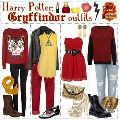 """Harry Potter: Gryffindor Outfits"" by roseygal-16 on Polyvore"