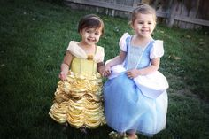 Cinderella and Belle Princess Dress - Costume Pattern and Tutorial.  She also explains how to make your own pattern so you can make it for any size. Cute!