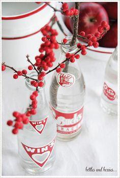 vintage bottles & berries