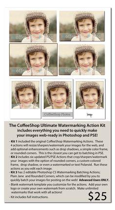 CoffeeShop Designs: CoffeeShop Ultimate Watermarking Action Kit