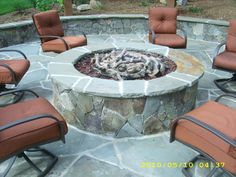 Love the patio/firepit