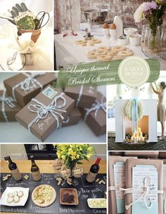 Bridal Shower Themes and Ideas   #garden #cooking #library #holiday #wine #travel