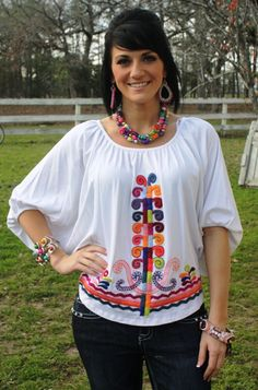 37506 You Da' One - White VAVA Top  $89.95  Sizes: Small, Medium, Large  To order, follow this link:  www.giddyupglamou...
