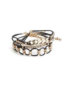 bracelet set, bling, stacked bracelets, fashion, amaz jewelri, style, accessori, link, black gold