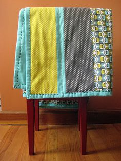 """beautiful, simple, """"anyone can do"""" flannel quilt tutorial"""
