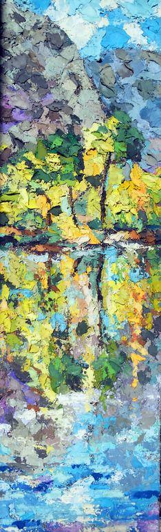 "Saatchi Online Artist: Michele Cannavale; Tempera, 2012, Painting ""reflected landscape"""