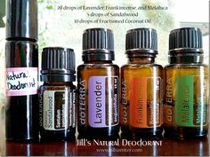 AMAZING & EASY ~ DIY Deodorant with actual health benefits!!  Read about the small miracle it's become in Jill's life, great blog too :))