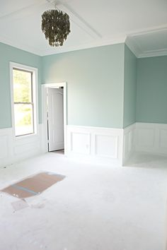 Love the Paint Color: Benjamin Moore's Palladian Blue. Looks good with white