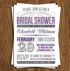 ...bridal shower