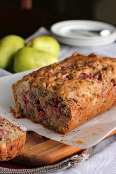 Raspberry Pear Pecan Quick Bread | A Baker's House