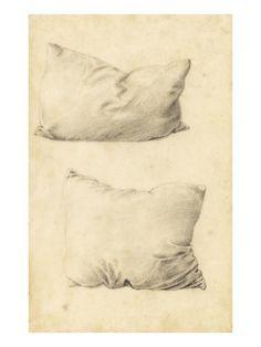 Studies of Pillows (Pencil) Giclee Print by Sir Edward Burne-Jones at Art.com