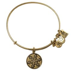 Team USA Snowflake Charm Bangle in Russian Gold