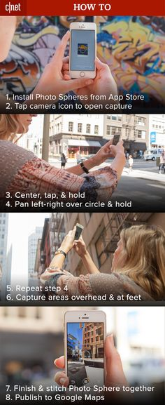 Ever wanted to take a 360º panoramic photo to truly show someone your surroundings? Now, Google has made it easy to capture the entire experience with their Photo Spheres app. Bonus tip: you can even upload right to Google Maps!