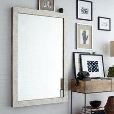 large wall mirror, larg wall, west elm parsons mirror, parson larg, bones, wall mirrors, living room walls, bathroom, bone inlay