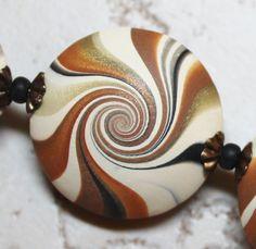 Polymer Clay Beads, Polymer Clay Swirl