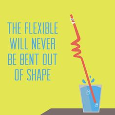 Be Flexible #Illustration #Humor #Yoga #Adamantine_Yoga
