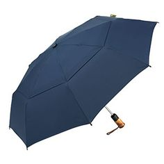 The ShedRain Ecoverse Vented Auto Open and Close Umbrella is made mostly of recycled and recyclable materials.