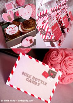 Cookies and Milk #Valentine's Day Party thanks to @B .'s Party.  This site has some wonderful ideas and printables.