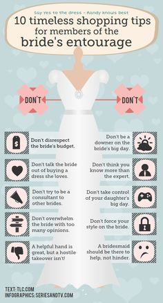 Infographic – Shopping tips for members of the bride´s entourage
