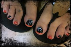 I am so doing this for Halloween this year! spider-web-pedicure-art