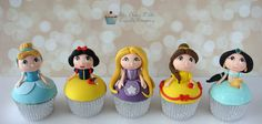 Disney Princess Cupcakes by The Clever Little Cupcake Company, via Flickr