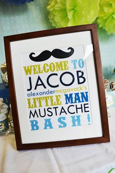 Mustache Party: decor
