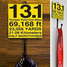 13.1 Math Miles Medal Hook | Half Marathon Medal Hooks | Half Marathon Gifts Math, Fit, Gift, Half Marathons, Hooks, Cool Running Stuff, Display, Hangers, Goneforarun